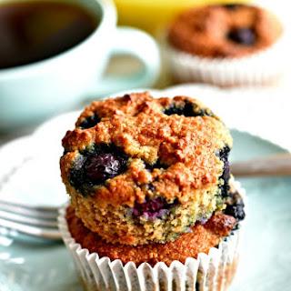 Paleo Banana Blueberry Muffins {Gluten-Free, Grain-Free, Dairy-Free, No Refined Sugar}.