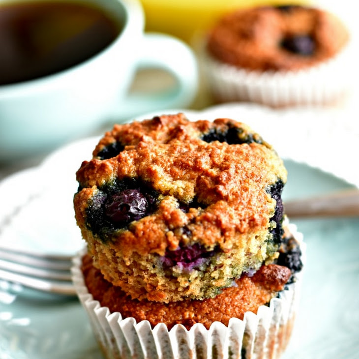 Paleo Banana Blueberry Muffins {Gluten-Free, Grain-Free, Dairy-Free, No Refined Sugar}