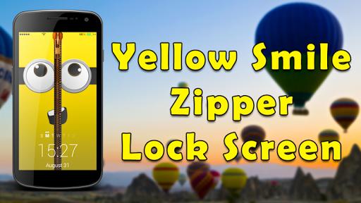 Yellow Smile Zipper LockScreen