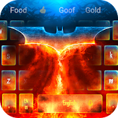 Flame Dark Bats Keyboard Theme