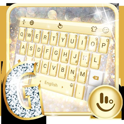 Gold Silver Keyboard Theme