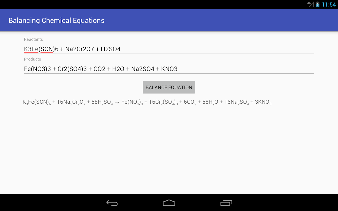 Balancing Chemical Equations Android Apps on Google Play