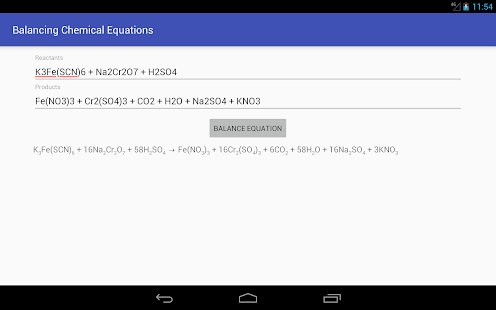 Balancing Chemical Equations Apps On Google Play