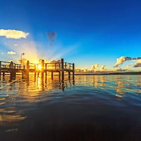 One Light One Life by Andy Hutchinson - Landscapes Sunsets & Sunrises ( south coast nsw, australia, shoalhaven, sunrise, river )