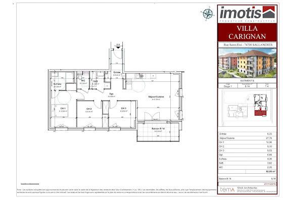 Vente appartement 4 pièces 82,08 m2