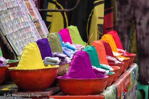 India. Rajasthan Pushkar . Colorful Powders