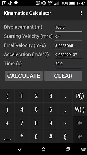 Kinematics Calculator