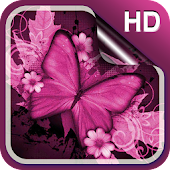 Pink Butterfly Live Wallapper