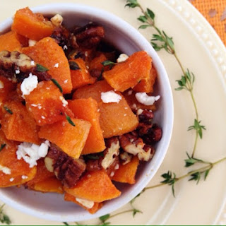 Butternut Squash with Brown Sugar Roasted Pecans