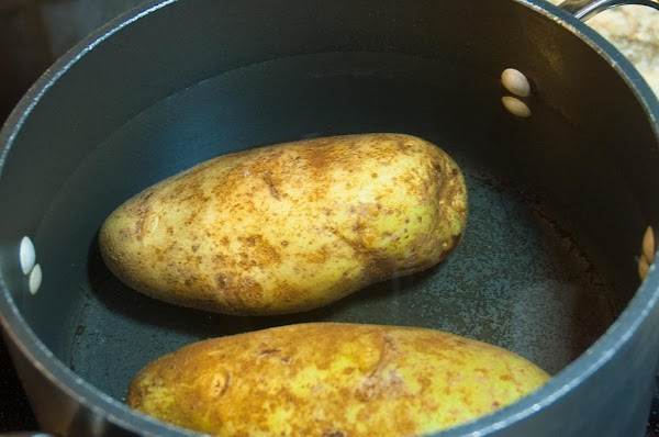 Add the potatoes to a pot of boiling water, and cook until softened, about...
