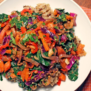 Rainbow Veggie Lentil Fried Rice [Vegan, Gluten-Free]