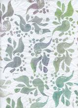 Photo: 3/18/12 Pale partridges. Foam print on deli paper.