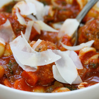 Minestrone and Meatball Soup.