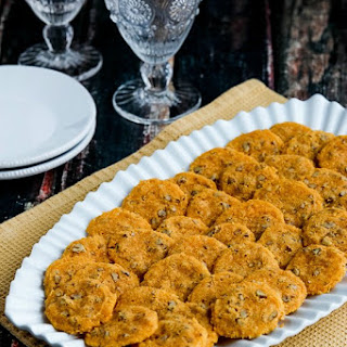 Low-Carb and Gluten-Free Cheddar Pecan Almond Crisps.