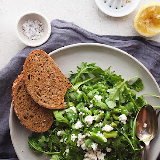 Fava Bean Salad with Mint and Ricotta Cheese