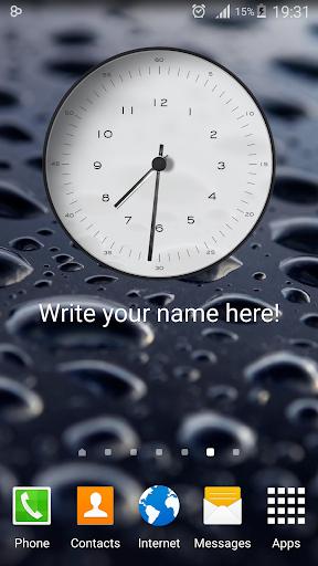 My Name Clock Widget
