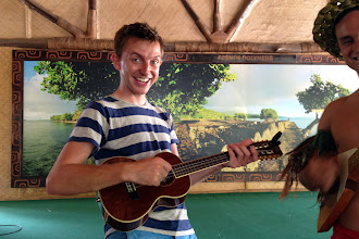 Photo: Brock's debut as a ukelele performer http://ow.ly/caYpY