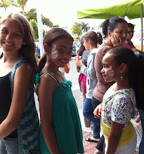 Photo: Happy girls showing our Face Painting Designs at Menchie's grand opening. By http://www.BestPartyPlanner.net