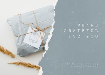 We're Grateful for You - Thank You Card Template