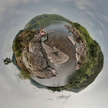 Photo: Lingy Holm mini planet, on Ullswater, with the rowing boat.