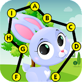 Connect the dot to dot - ABC learn to read animal