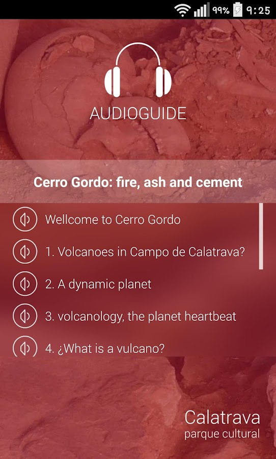 Cerro Gordo Volcano Audioguide- screenshot