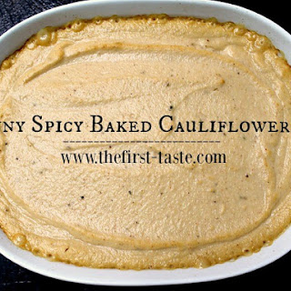 Skinny Spicy Baked Cauliflower Dip