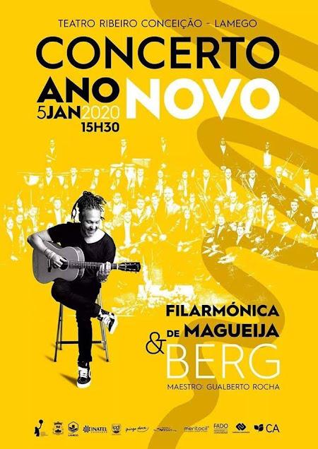 Filarmónica de Magueija e Berg juntos no Concerto de Ano Novo