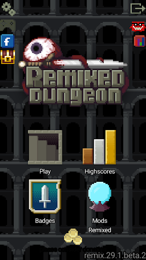 Remixed Dungeon: Pixel Art Roguelike  captures d'u00e9cran 1