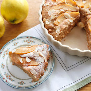 Quince And Marzipan Cake.