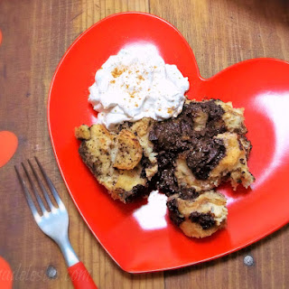 Mexican Chocolate Chunk Bread Pudding