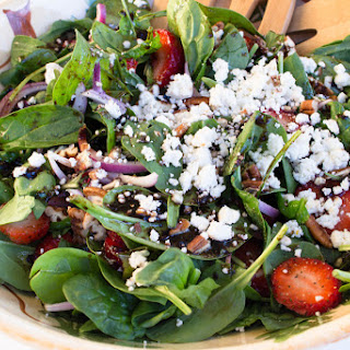 Spinach, Basil, and Strawberry Summer Salad