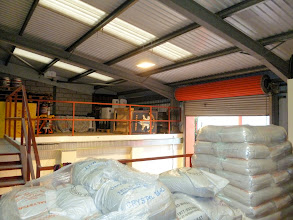 Photo: malt store on mezzanine floor