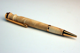 "Photo: Jerry Mauch - Longwood Pen - 5.5"" - big leaf maple (stabilized)"