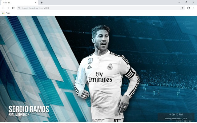 Sergio Ramos New Tab & Wallpapers Collection