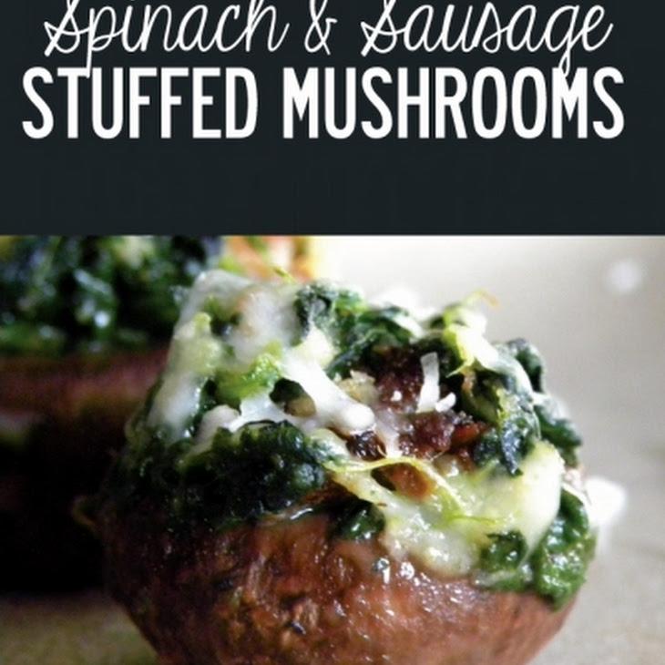 Spinach & Sausage Stuffed Mushrooms