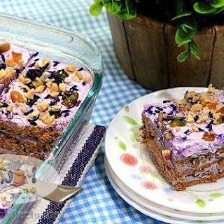 Ube Langkasuy Icebox Cake.