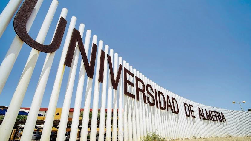 Entrada a la Universidad de Almería desde la puerta principal