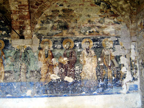 Photo: Some Byzantine murals probably defaced by communists