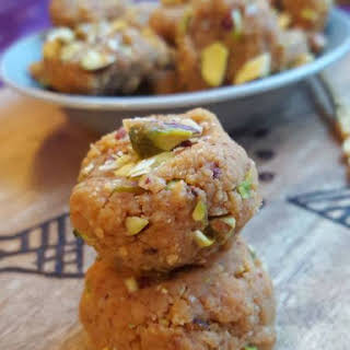 Rustic Indian Peda With Roasted Pistachios.