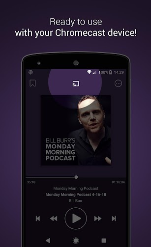 Podcast Go screenshot for Android
