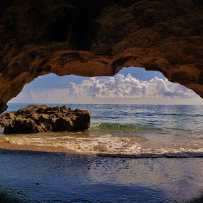 Hutchinson Island Sea Cave by Matthew Beziat - Landscapes Beaches ( house of refuge, hutchinson island, florida, florida beaches, florida sea caves, sunshine state, sea cave, martin county, atlantic ocean, treasure coast, ross witham beach )