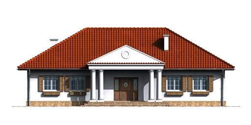 Dom przy Zamkowej - Elewacja przednia