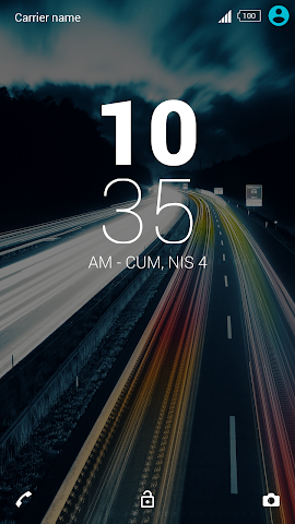 android For Xperia Theme Highway Screenshot 2