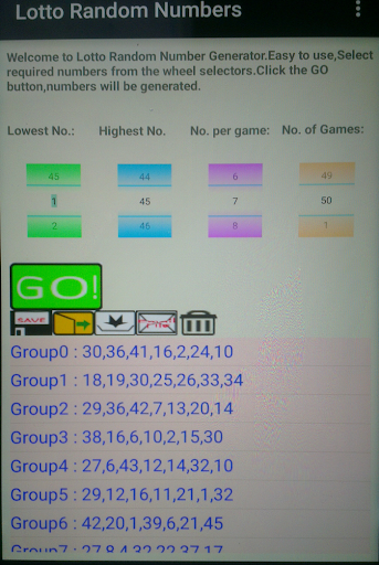 Lotto Random Number Generator