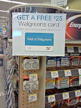 Photo: On our way to the pharmacy I kept noticing these signs on the front of the aisles.