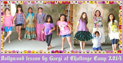 Photo: Bollywood lesson by Gargi at the Challenge Camp 2014