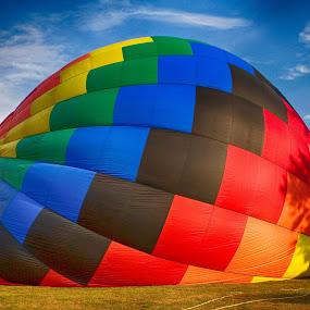 Filling up by John LeBlanc - Transportation Other ( balloon, ct )