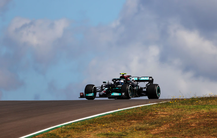 Valtteri Bottas of Finland driving the Mercedes AMG Petronas F1 Team Mercedes W12 during practice ahead of the F1 Grand Prix of Portugal at Autodromo Internacional Do Algarve on April 30 2021 in Portimao.