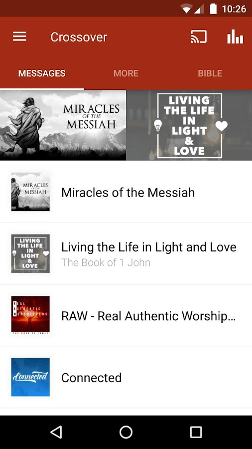 Crossover Bible Fellowship App- screenshot